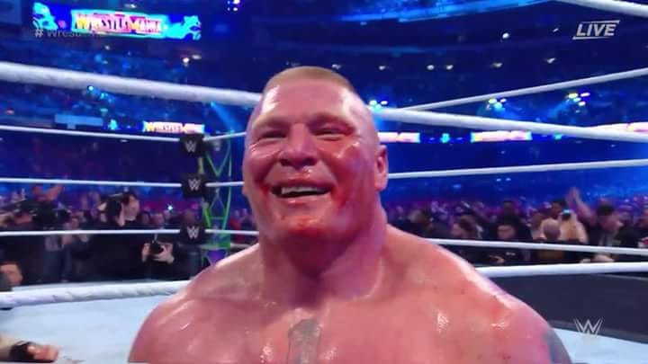 wwe wrestlemania 34 brock lesnar destroza roman reigns evento estelar