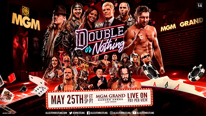 aew double or nothing horarios