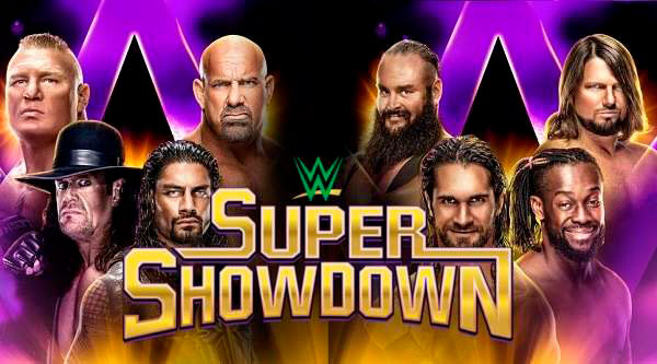 wwe super showdown 2019 horarios