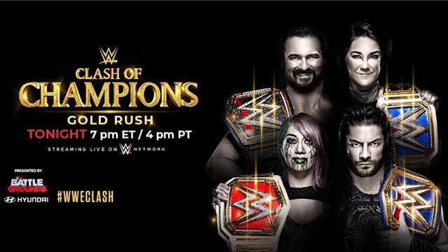 wwe clash of champions 2020 horarios